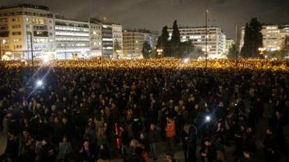 Manifestanți la Atena