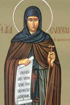 Sfânta Cuvioasă Muceniță Evdochia. Pomenirea sa de către Biserica Ortodoxă se face la data de 1 martie - foto: crestinortodox.ro