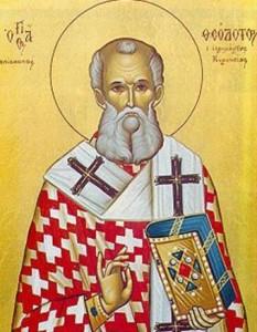 Sfântul Sfințit Mucenic Teodot, Episcopul Chiriniei. Pomenirea sa de către Biserica Ortodoxă se face la data de 2 martie - foto: crestinortodox.ro