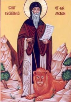 Cuviosul și de Dumnezeu purtătorul părintele nostru Gherasim (gr. Gerasimos sau Gerasimus) a fost un călugăr care a trăit în secolul al V-lea în Țara Sfântă. A participat și la Sinodul IV Ecumenic de la Calcedon în anul 451. Prăznuirea lui în Biserica Ortodoxă se face la data de 4 martie - foto: crestinortodox.ro