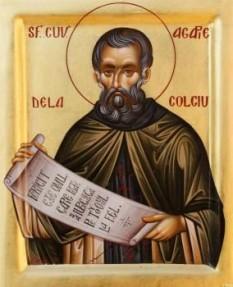Sfântul Agapie de la Colciu. Pomenirea sa de către Biserica Ortodoxă se face la data de 1 martie - foto: doxologia.ro