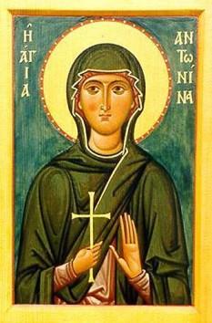 Sfânta Muceniță Antonina.  Pomenirea sa de către Biserica Ortodoxă se face la data de 1 martie - foto: doxologia.ro