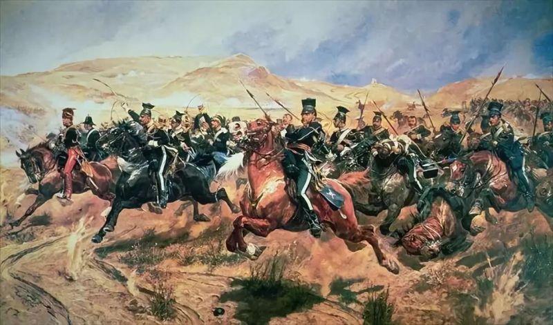 Războiul Crimeii (1853–1856) Asediul Sevastopolului (17 octombrie 1854 – 11 septembrie 1855) - Bătălia de la Balaclava (25 octombrie 1854) - Charge of the Light Brigade by Richard Caton Woodville, Jr. - foto preluat de pe en.wikipedia.org