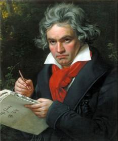 Ludwig van Beethoven (n. 16 decembrie 1770, Bonn - d. 26 martie 1827, Viena), compozitor german, recunoscut ca unul din cei mai mari compozitori din istoria muzicii. Este considerat un compozitor de tranziție între perioadele clasică și romantică ale muzicii - foto (pictură în ulei de Joseph Karl Stieler, 1820): ro.wikipedia.org