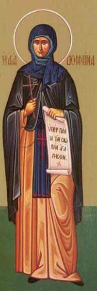 Sfânta Cuvioasă Domnina. Pomenirea sa de către Biserica Ortodoxă se face la data de 1 martie - foto: doxologia.ro