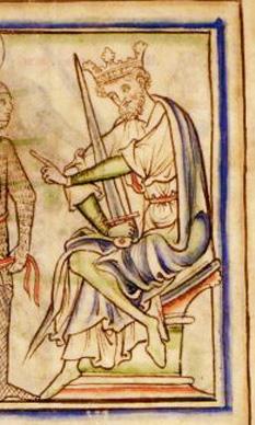 """Harold Picior-de-Iepure sau Harold I (ca. 1015 – 17 martie 1040) a fost rege al Angliei din 1035 până în 1040. Porecla """"Picior-de-Iepure"""" se datorează vitezei și abilităților sale de vânător.[1] A fost fiul cel mic al regelui Knud cel Mare, rege al Angliei, Danemarcei și Norvegiei cu prima sa soție, Ælfgifu de Northampton - foto: ro.wikipedia.org"""