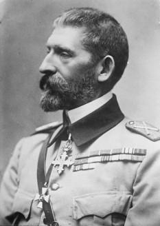 Ferdinand I de Hohenzollern-Sigmaringen (n. 12/24 august 1865, Sigmaringen - d. 20 iulie 1927, Castelul Peleș, Sinaia) al doilea rege al României, din 10 octombrie 1914 până la moartea sa - foto - ro.wikipedia.org