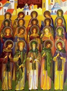 Sfinții Cuvioși Mucenici din Mănăstirea Sfântului Sava cel Sfințit. Prăznuirea lor în Biserica Ortodoxă se face la 20 martie - foto: doxologia.ro