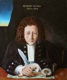 """Robert Hooke (n. 18 iulie 1635 — d. 3 martie 1703) a fost un savant englez, care a excelat ca astronom și fizician, fiind cel mai bine cunoscut pentru formularea legii de proporționalitate între deformațiile elastice ale unui corp și tensiunile la care este supus, cunoscută ca """"Legea lui Hooke"""" - foto: ro.wikipedia.org"""