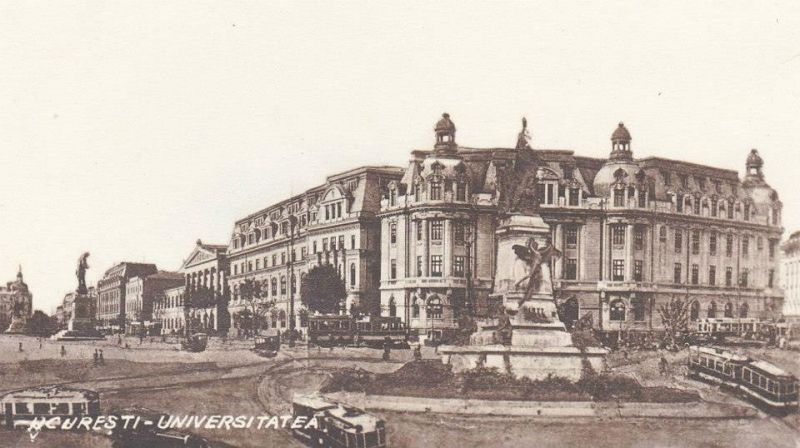 Bucuresti - Piata Universitatii in perioada interbelica - foto: ro.pinterest.com