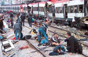 Atentatele din 11 martie 2004 de la Madrid - foto: cersipamantromanesc.wordpress.com