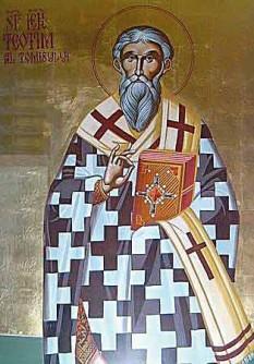 Sfântul Ierarh Teotim I Scitul a fost episcop de Tomis la sfârşitul secolului al IV-lea. Pomenirea lui se face în Biserica Ortodoxă la data de 20 aprilie - foto: crestinortodox.ro