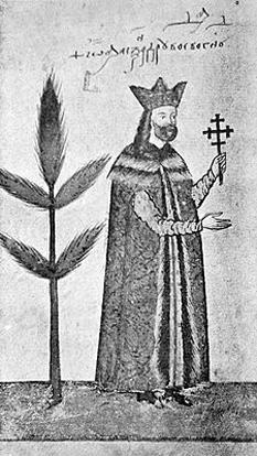 Alexandru al II-lea Mircea, poreclit Oaie Seacă, a fost Domn al Țării Românești între iunie 1568 - aprilie 1577, cu o scurtă întrerupere în primăvara lui 1574). Este fiul lui Mircea al III-lea și nepot al voievodului Mihnea cel Rău, așa cum apare în tabloul de familie din documentul de danie pentru Mănăstirea Sinai: [...] Io Alexandru voevod și pe bunicul domniei mele Io Mihnea voevod și pe părintele domniei mele Io Mircea voevod și maica din inimă a domniei mele, doamna Despina și pe frații din inimă ai domniei mele, Io Mihnea voevod și Io Vladul voevod și Io Miloș voevod și Io Petru voevod și Io Mihnea voevod și pe fiul din inimă al domniei mele Io Mihnea voevod [...] - in imagine, Alexandru al II-lea într-un Evangheliar al mănăstirii Sucevița - foto: ro.wikipedia.org