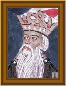 Alexandru cel Bun, fiul lui Roman I (decedat la 1 ianuarie 1432), domnul Moldovei între anii 1400 - 1432, succedându-i la tron lui Iuga Ologul, care a fost îndepărtat de către Mircea cel Bătrân- in imagine, Alexandru cel Bun, fragment frescă de la mănăstirea Suceviţa - foto: istoria.md