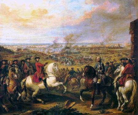 Războiul de Succesiune Austriacă (1740-1748). Bătălia de la Fontenoy, 1745; pictură în ulei de Pierre Lenfant - foto preluat de pe ro.wikipedia.org