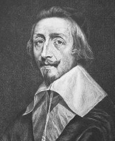 Armand-Jean I. du Plessis de Richelieu, intrat în istorie cu numele de Cardinalul Richelieu, (n. 9 septembrie 1585 în palatul Richelieu, departamentul Indre-et-Loire; d. 4 decembrie 1642 în Paris) cleric, nobil și om politic francez  - foto: cersipamantromanesc.wordpress.com