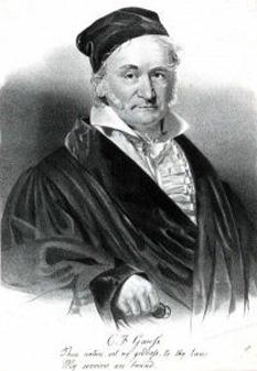 Karl Friedrich Gauß (n. 30 aprilie 1777, Braunschweig - d. 23 februarie 1855, Göttingen) a fost un matematician, fizician și astronom german, celebru pentru lucrările despre integralele multiple, magnetism și sistemul de unități care îi poartă numele. Este considerat unul dintre cei mai mari oameni de știință germani - foto: cersipamantromanesc.wordpress.com