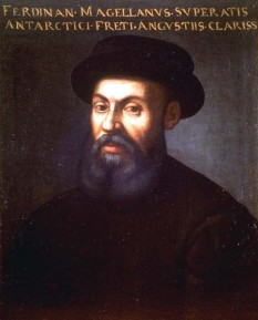 Fernando Magellan (n. primăvara lui 1480, d. 27 aprilie 1521, Mactan, Filipine) explorator portughez care a navigat în serviciul regelui Spaniei. A fost primul european care a navigat în Oceanul Pacific și primul care a condus o expediție în jurul lumii - foto: cersipamantromanesc.wordpress.com