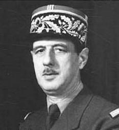 Charles de Gaulle (n. 22 noiembrie 1890, d. 9 noiembrie 1970) general și politician francez  - foto - cersipamantromanesc.wordpress.com