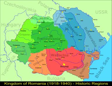 Regiunile istorice ale Romaniei Mari dupa 1918 - foto: romaniamagicland.com
