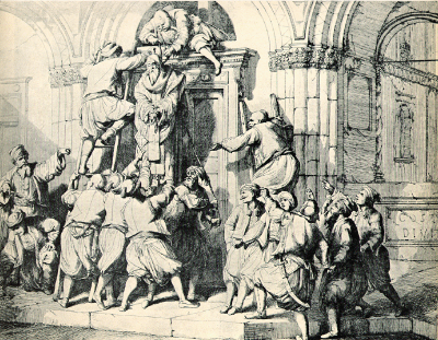10 aprilie 1821: Patriarhul Constantinopolului Grigorie al V-lea este spanzurat la ordinul sultanului otoman Mahmud al II-lea - foto: cersipamantromanesc.wordpress.com
