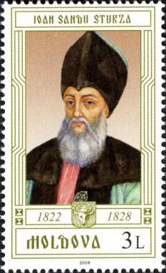 Ioan Sturdza (Ioan Sandu Sturdza sau Ioniță Sandu Sturdza; n. 1762 - d. Paris, 2 februarie 1842) a fost domn al Moldovei în perioada 21 iunie 1822 - 5 mai 1828. Se trăgea dintr-o veche familie boierească. A fost numit de turci, la cererea boierilor mici din țară, împotriva voinței boierilor emigrați în timpul ocupației turcești și după revoluția lui Tudor Vladimirescu, care cereau conducera țării pentru ei. Intențiile bune ale lui Sturdza au fost multă vreme paralizate de acțiunile acestora. Abia în 1826, după Convenția de la Cetatea Albă (Akkerman), care reglementa din nou raportul Principatelor Române față de Rusia și Turcia, s-au reîntors zgomotoși în țară. Împăcarea lor cu domnul a costat mult Moldova, pe lângă multe alte favoruri, s-au făcut scutiri de dări și de la armată. Cu toate aceste evenimente, s-au făcut și îmbunătățiri. S-a deschis o școală superioară la Trei Ierarhi, numirea în funcții a fost condiționată de pregătire și nu de rang, s-a sechestrat în folosul statului o parte a averilor mănăstirești. Deși rușii au luat apărarea călugărilor și au impus restituirea averilor, ele au rămas totuși sub controlul domnitorului. Odată cu războiul ruso-turc (1828-1829), rușii au intrat din nou în Țările Române, iar Sturdza a fost dus în Basarabia. A murit în 1842 în Moldova, fără a avea o funcție în stat în acel moment și a fost înmormântat în Biserica Bărboi din Iași. A fost căsătorit cu Ecaterina Rosetti-Roznovanu - foto: ro.wikipedia.org