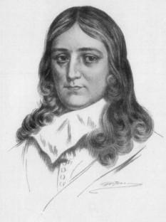 John Milton (n. 9 decembrie 1608 – d. 8 noiembrie 1674), poet englez, faimos pentru poemul epic în versuri albe Paradise Lost (Paradisul pierdut), care reprezintă una dintre pietrele de temelie ale literaturii engleze - foto: cersipamantromanesc.wordpress.com