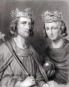 Ludovic al III-lea (n. 863 - d. 5 august 882, Saint-Denis) rege al Franciei de Apus între 879 - 882. Fiul lui Ludovic al II-lea al Franței și al Ansgardei de Burgundia. Dupa moartea tatălui său, Ludovic împreună cu fratele său Carloman au fost aleși regi de catre reprezentanții Bisericii și nobilii feudali. Regatul a fost împarțit câteva luni mai târziu între cei doi frați în urma tratatului de la Amiens din martie 880 Ludovic primind Neustria - in imagine, Ludovic împreună cu fratele său Carloman - foto: ro.wikipedia.org