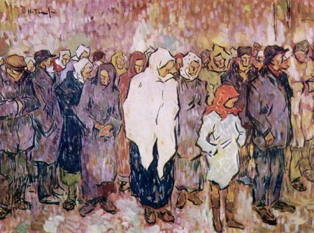 "Nicolae Tonitza, ""Coadă la pâine"" (1920) - foto: ro.wikipedia.org"