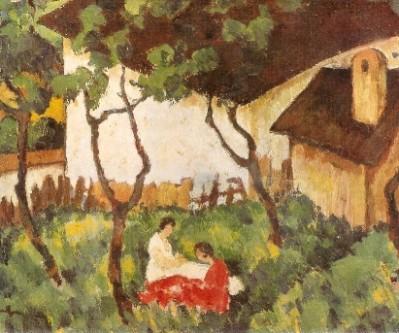 """Nicolae Tonitza, """"Grădină din Văleni"""" (1922-1924) - Muzeul de Artă, Târgu-Mureş - foto: ro.wikipedia.org"""