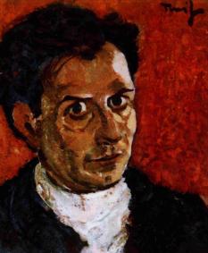 """Nicolae Tonitza (n. 13 aprilie 1886, Bârlad - d. 26 februarie 1940, București) a fost un pictor și grafician român, interpret al """"tristețelor luxuriant colorate"""" și al unor sincere simțăminte de revoltă mocnită și îndelung resemnată - in imagine, Nicolae Tonitza, autoportret cca 1923 - foto: ro.wikipedia.org"""