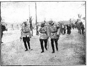 Războiul româno-ungar de la  1919 Inspecţie regală pe front - foto preluat de pe cristiannegrea.ro