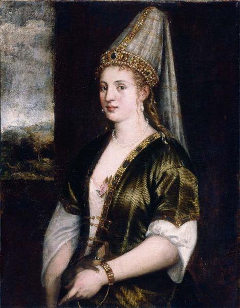 Roxelana, născută Alexandra Anastasia Lisowska și cunoscută sub titlul turcesc de Hŭrrem Haseki Sultan (n. 1506 - d. 15 aprilie 1558) a fost concubina, apoi soția sultanului Otoman, Suleiman Legiuitorul (Portrait by Titian titled La Sultana Rossa, c. 1550) - foto preluat de pe en.wikipedia.org