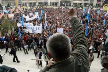 manifestatie sindicala - foto - tvalphamedia.ro