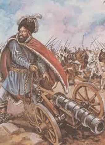 Ioan Vodă cel Viteaz (alternativ Ioan Vodă cel Cumplit sau Ioan Vodă Armeanul; n. 1521 - d. 1574) a fost domnul Moldovei din februarie 1572 până în iunie 1574. Era fiul lui Ștefăniță cu armeanca Serpega. După domnia sa, în Moldova a fost introdusă instituția mucarerului - foto preluat de pe paginideistorierrc.blogspot.ro