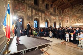 Presedintele Romaniei Klaus Iohannis in vizita in Italia - foto - mediafax.r