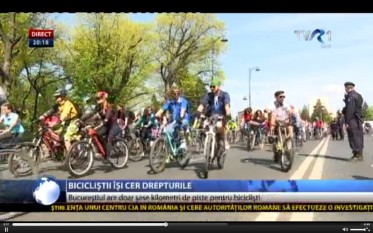 protest biciclisti - foto captura video stiri.tvr.ro