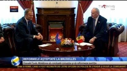 Donald Tusk in Rep. Moldova - foto preluat de pe stiri.tvr.ro