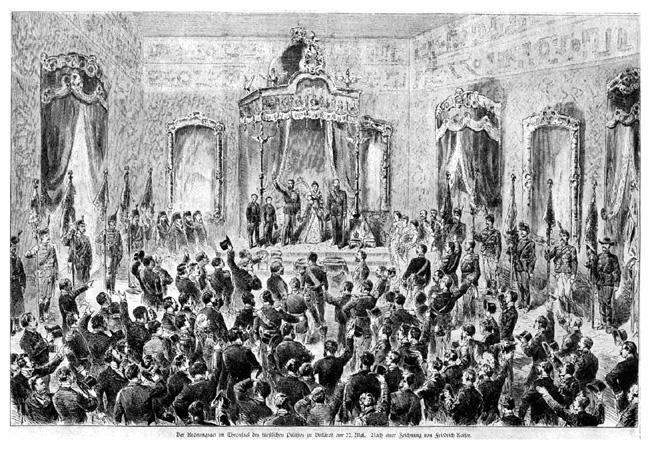 Încoronarea lui Carol ca rege al României 10 mai 1881 - foto preluat de pe ro.wikipedia.org