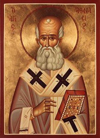Sfântul Atanasie al Alexandriei (Nemuritorul în grecește) a fost episcop al Alexandriei și un mare scriitor de teologie în secolul al IV-lea. Este numit de asemenea Atanasie cel Mare (și, în Biserica coptă, Atanasie Apostolicul). S-a născut în anul 298 și a murit la 2 mai 373. Pomenirea sa în Biserica Ortodoxă se face pe data de 18 ianuarie - foto preluat de pe ro.orthodoxwiki.org
