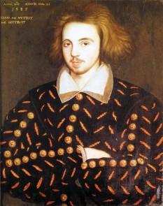 """Christopher """"Kit"""" Marlowe (botezat la 26 februarie 1564 - d. 30 mai 1593) a fost un dramaturg, poet și traducător englez din epoca elisabetană. Cel mai însemnat autor de tragedie din această perioadă înainte de Shakespeare, Kit Marlowe este cunoscut pentru deosebitul său vers alb, pentru personajele sale care au cucerit publicul, precum și pentru propria-i moarte - foto - ro.wikipedia.org"""