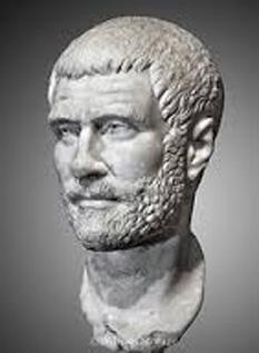 Claudius al II- lea (Marcus Aurelius Valerius Claudius Augustus), imparat roman - foto preluat de pe cersipamantromanesc.wordpress.com
