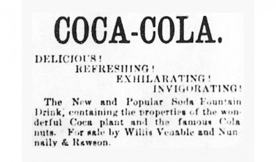 "Prima reclama la Coca-Cola in ""Atlanta Journal"" - foto - cersipamantromanesc.wordpress.com"