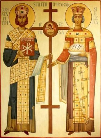 Sfinții Împărați, întocmai cu apostolii, Constantin și mama sa, Elena. Prăznuirea lor de către Biserica Ortodoxă se face la data de 21 mai - foto: doxologia.ro