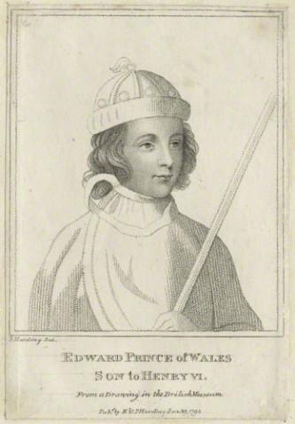 Eduard de Westminster (13 octombrie 1453 – 4 mai 1471), cunoscut ca Edward de Lancaster, a fost singurul fiu al regelui Henric al VI-lea al Angliei. A fost ucis în Bătălia de la Tewkesbury devenind singurul moștenitor aparent al Angliei care a murit în bătălie - in imagine, Eduard de Westminster, Prinț de Wales, gravură din secolul al XV-lea - foto: ro.wikipedia.org