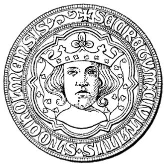 Sigiliul orașului Stockholm, cu efigia regelui Eric al IX-lea - foto: ro.wikipedia.org