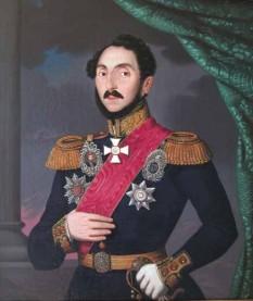 Gheorghe Bibescu (n. 26 aprilie 1804, Craiova - d. 1 iunie 1873, Paris) domn în Țara Românească în perioada 1 ianuarie 1843 - 13/25 iunie 1848 (portret de Paulus Petrovitz) - foto - ro.wikipedia.org