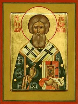 Cel între sfinți părintele nostru Gherman I († 733), a fost Patriarh al Constantinopolului între anii 715 și 730. A fost un mare apărător al închinării la icoane, drept pentru care a fost forțat de împăratul iconoclast Leon al III-lea Isaurianul să părăsească scaunul patriarhal. Prăznuirea lui se face la data de 12 mai - foto: doxologia.ro