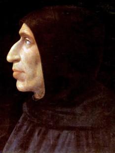 Girolamo Savonarola (n. 21 septembrie 1452, Ferrara, d. 23 mai 1498, Florența), călugăr dominican italian, predicator, critic și reformator al moravurilor religioase și sociale catolice - foto (pictură de Fra Bartolomeo): en.wikipedia.org