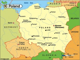 Harta Polonia - foto - harta.infoturism.ro